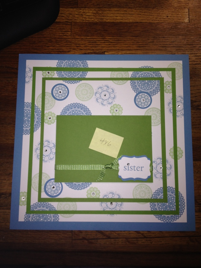 Lovely and Lacey Sister Scrapbook Page