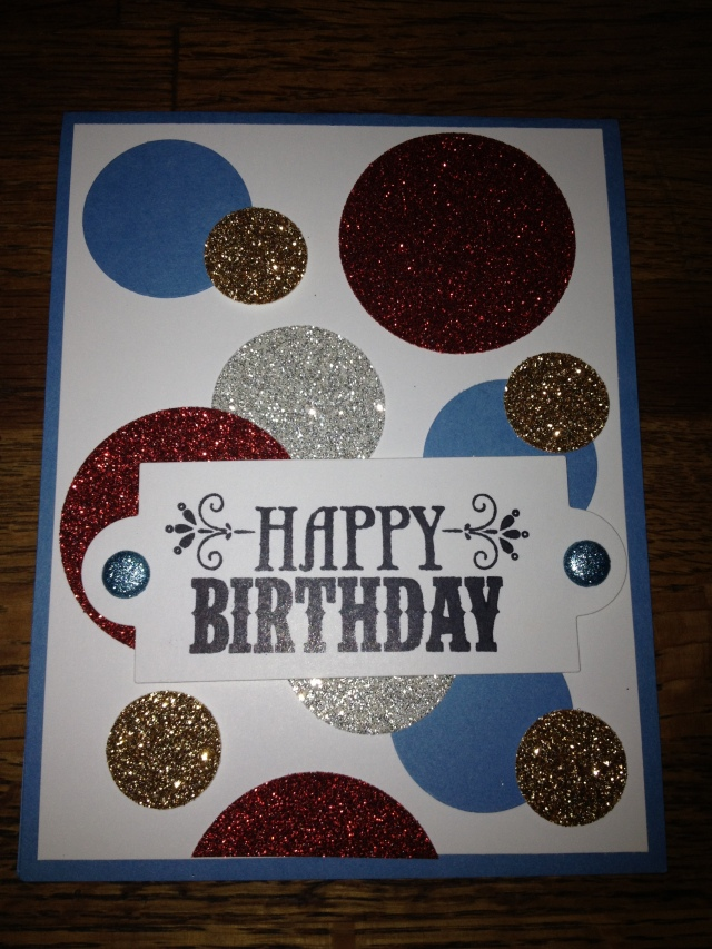 My Blinged Out version of Mary Fish's Card